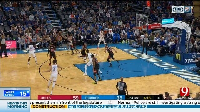 Paul Hits 5 3s In Fourth, Thunder Rally Past Bulls 109-106