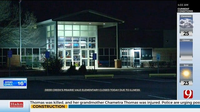 Deer Creek's Prairie Vale Elementary Closed Tuesday Due To Illness