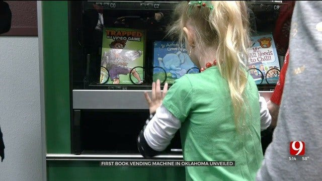 Oklahoma's First Book Vending Machine Unveiled In Edmond