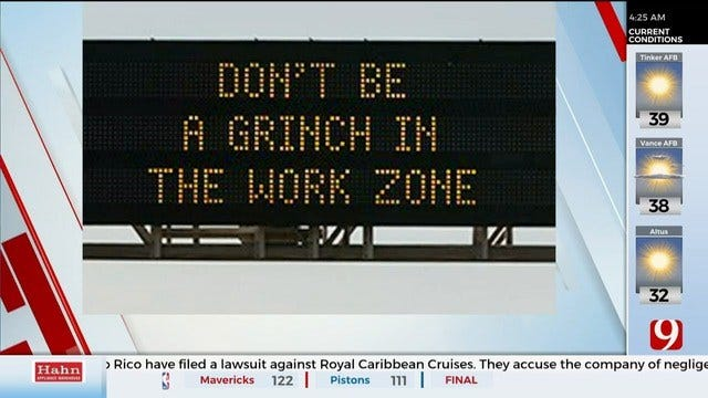 ODOT Keeping Drivers Safe With Festive Billboard Messages