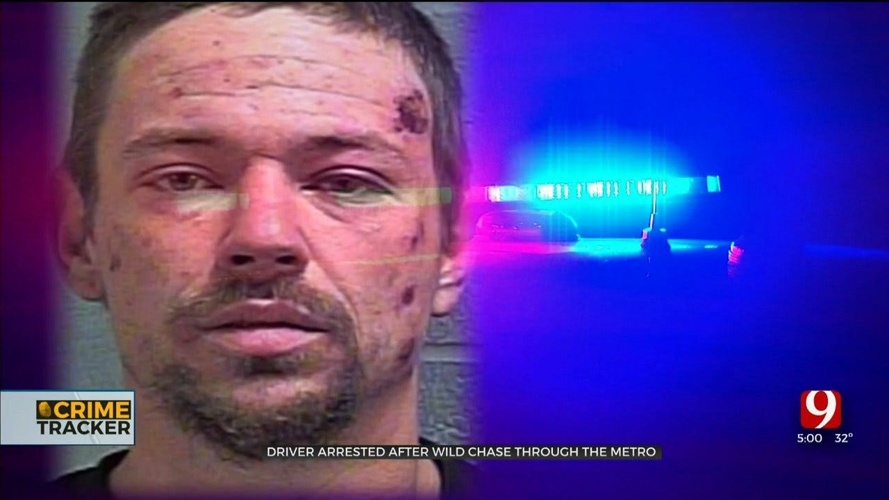 Driver In Custody After Leading Okla. Law Enforcement On Chase Ending In Fiery Crash