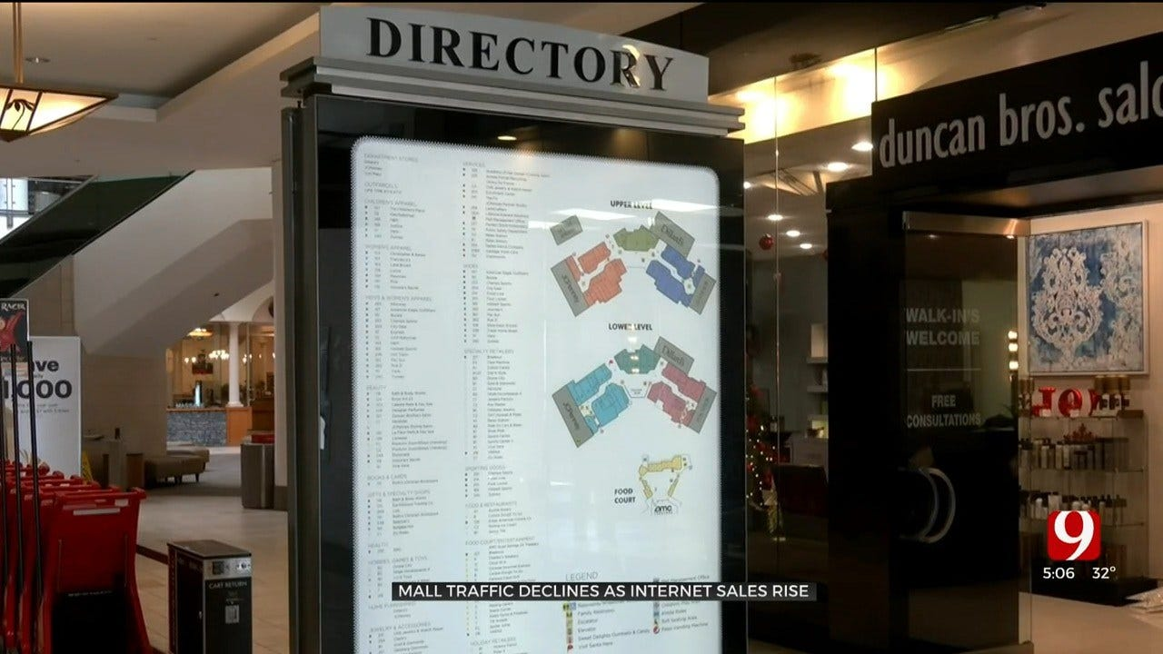 Mall Traffic Declining As Internet Sales Rise