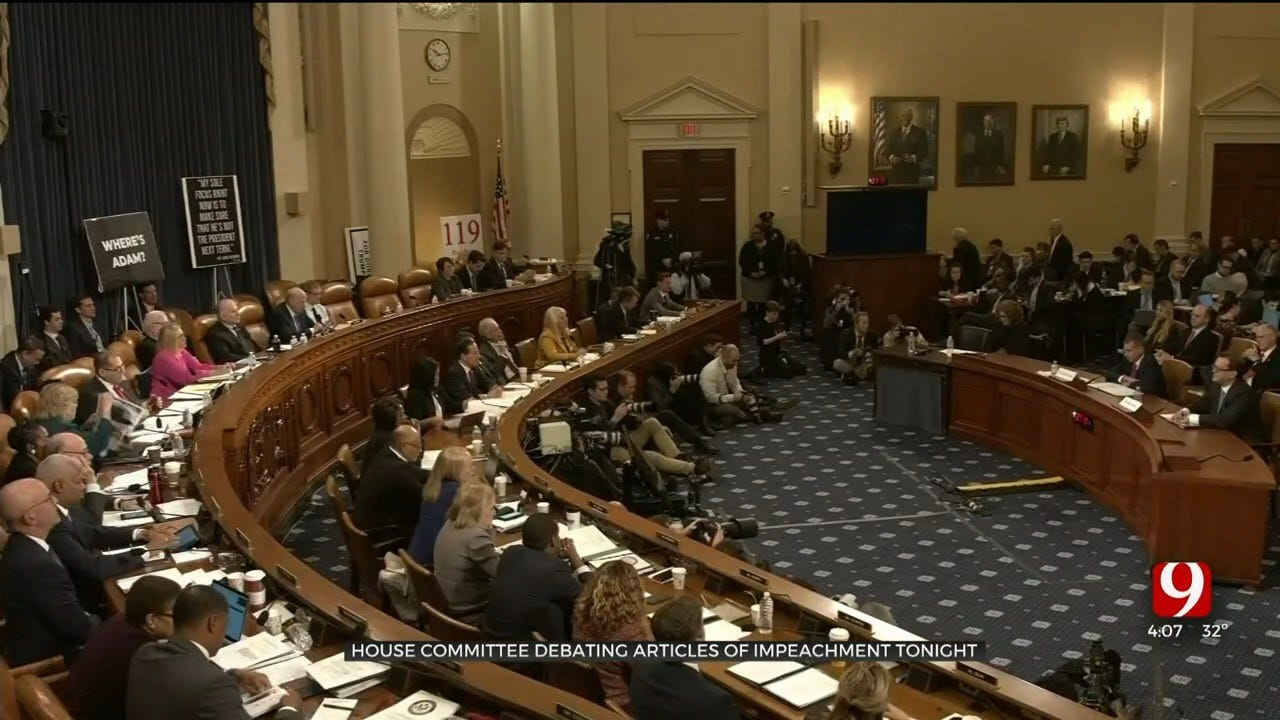 House Committee Debating Articles Of Impeachment Wednesday Night