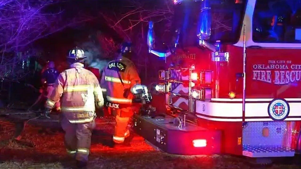 NE OKC Trailer Home Destroyed In Overnight Fire