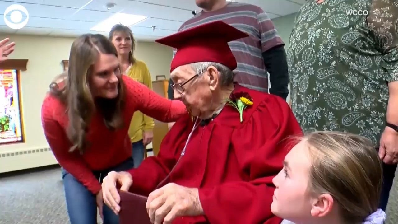 WATCH: 91-Year-Old Man Receives His High School Diploma