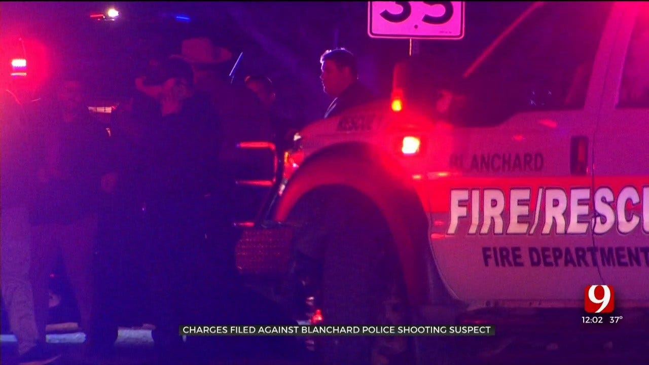 Man Shot By Blanchard Officer Charged In Connection With Domestic Disturbance, Assault
