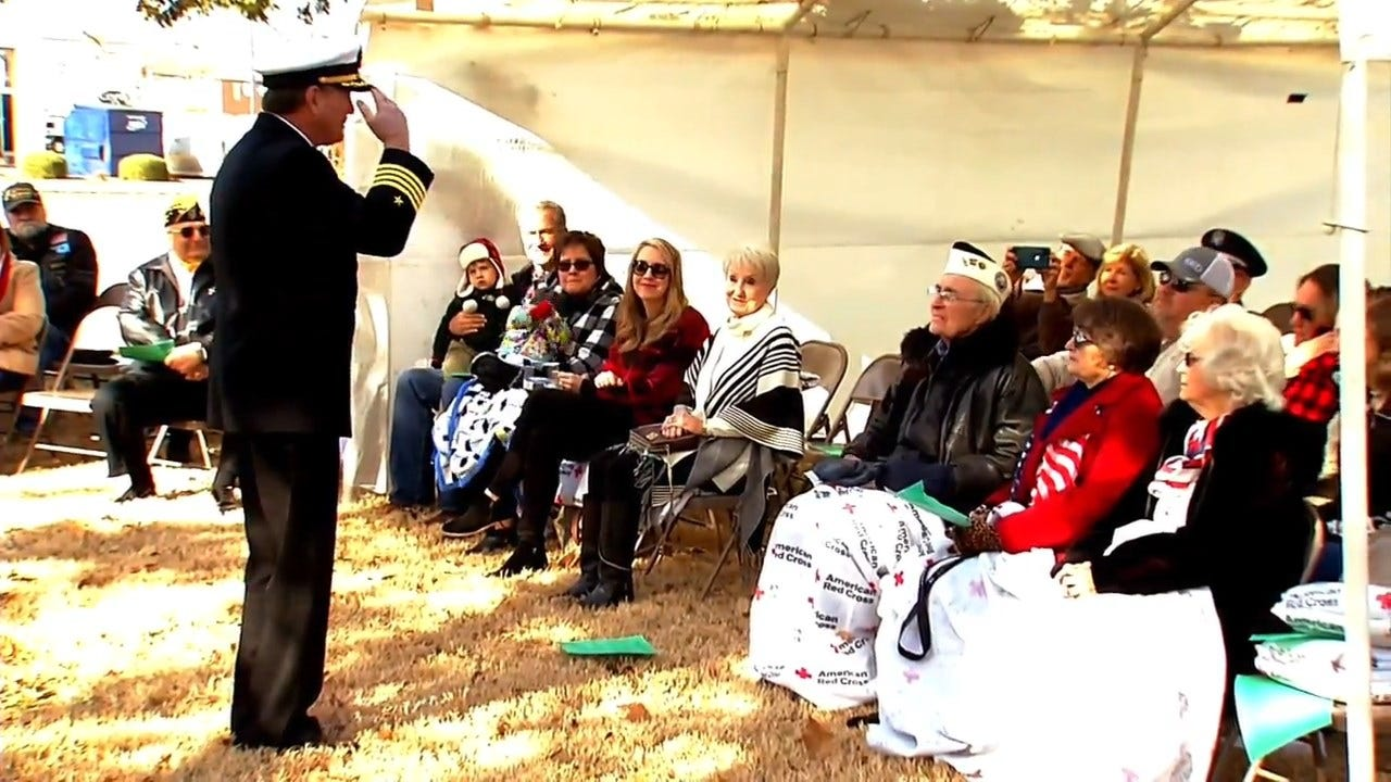 WATCH: Pearl Harbor Remembrance Ceremony Held At USS Oklahoma Anchor