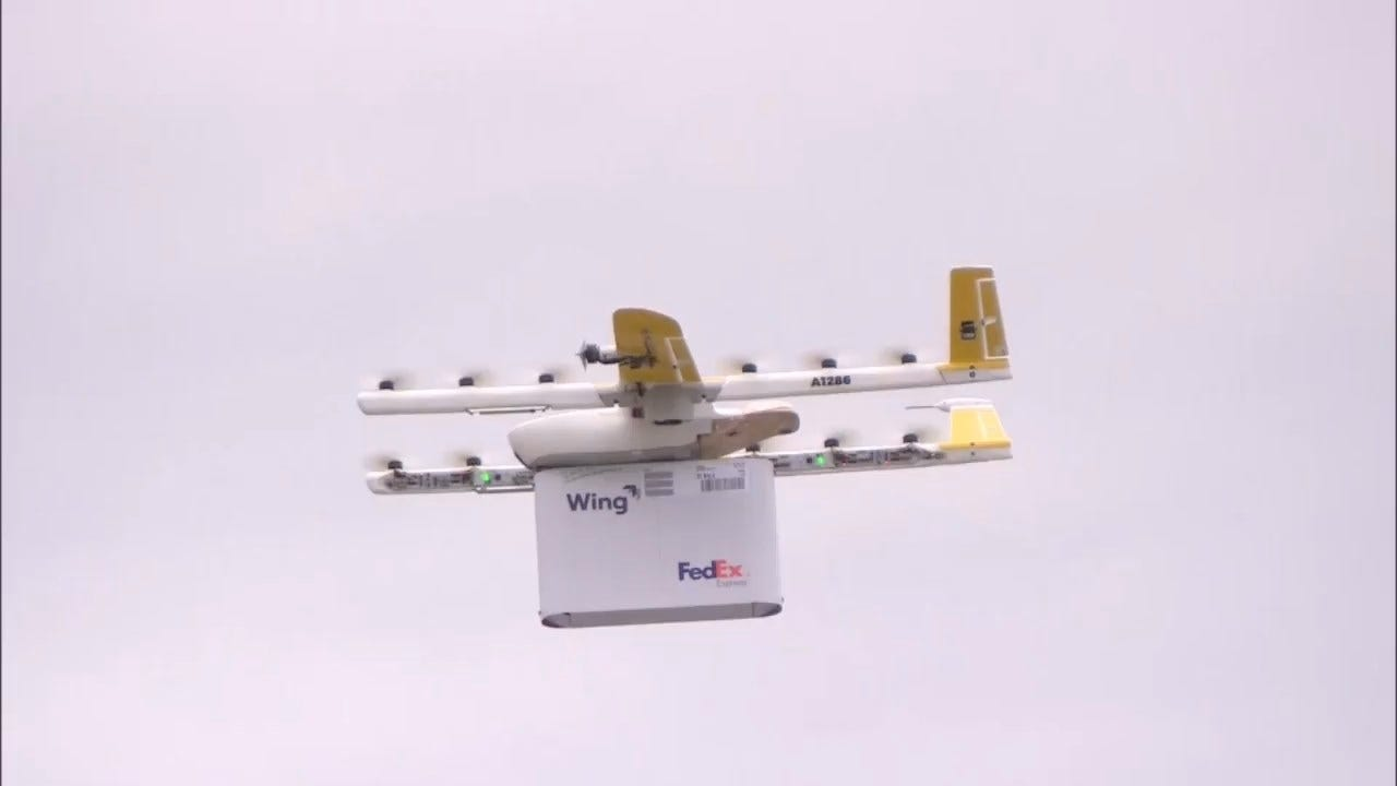 Companies Race To Test Drone Delivery To Residential Areas