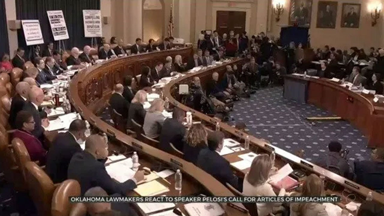 Okla. Reps. React to Articles Of Impeachment Announcement