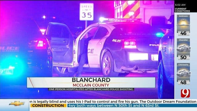 1 Person Hospitalized After Blanchard Police Shooting