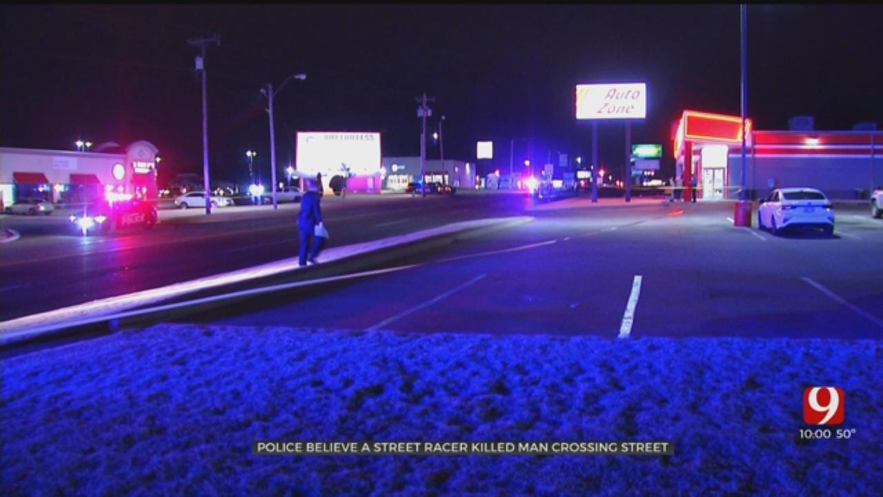 Police: Possible Street Race Led To Death Of Pedestrian In SW OKC; Driver Fled Scene