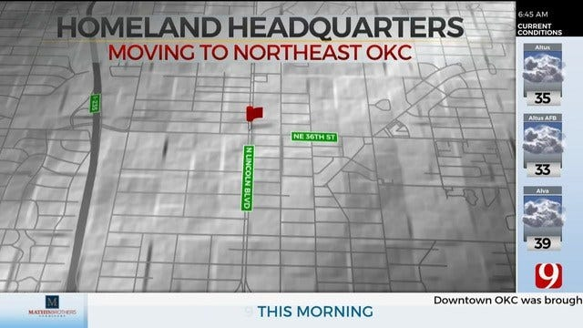 Homeland To Move Headquarters To NE Oklahoma City