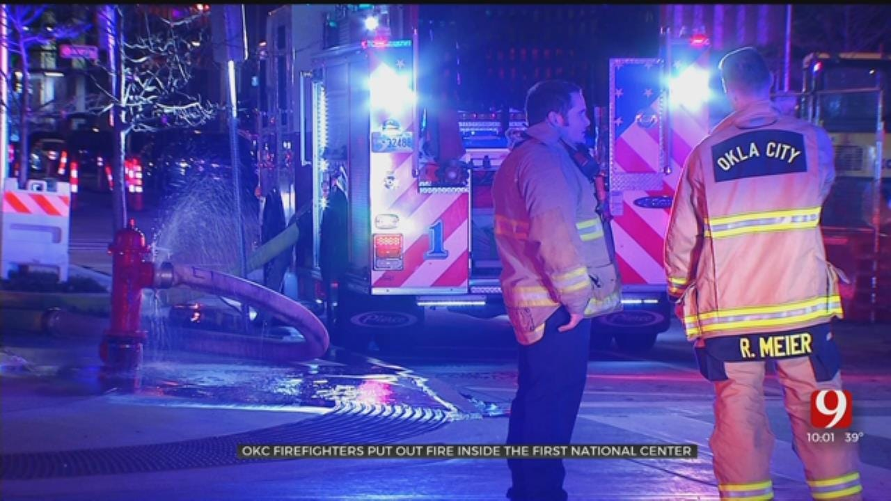 Crews Respond To Fire At OKC's First National Center