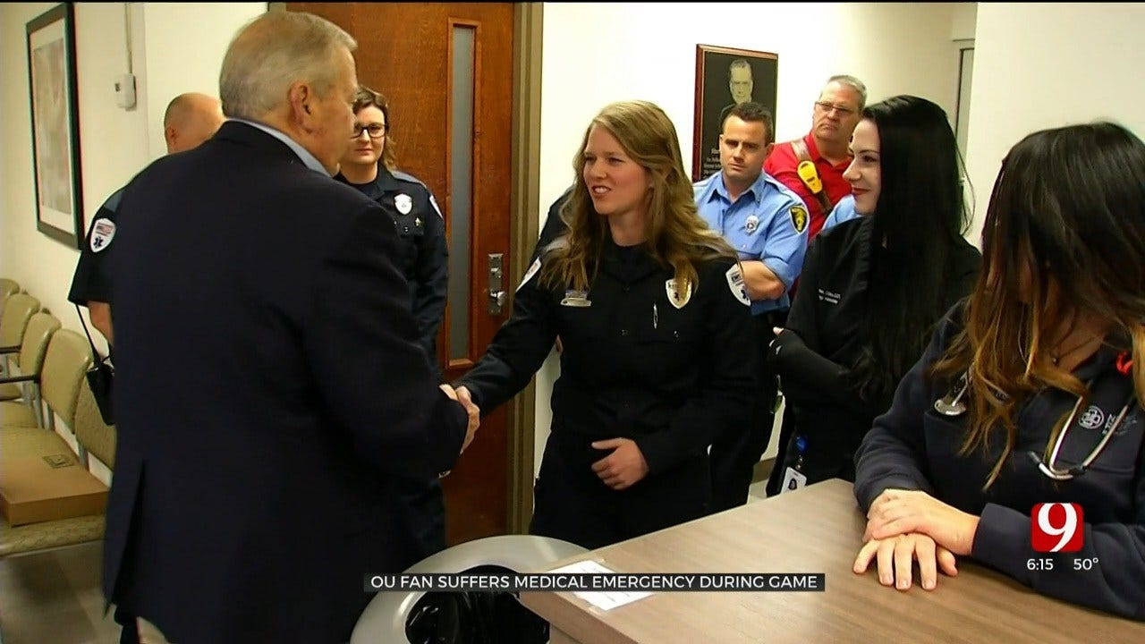 Man Thanks First Responders After Surviving Medical Emergency At OU Game