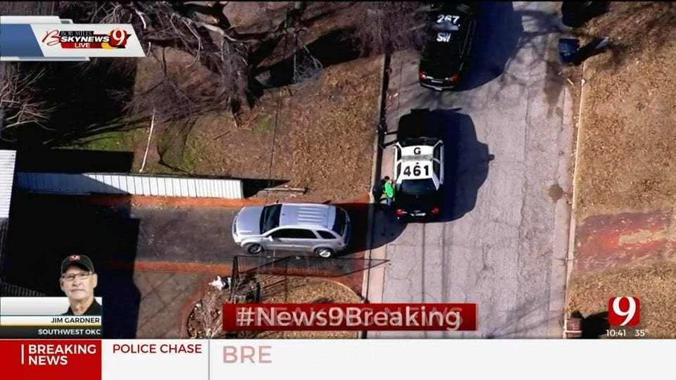 WATCH: 1 In Custody After Police Chase In SW OKC