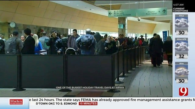 Will Rogers World Airport Expects Increased Holiday Travel