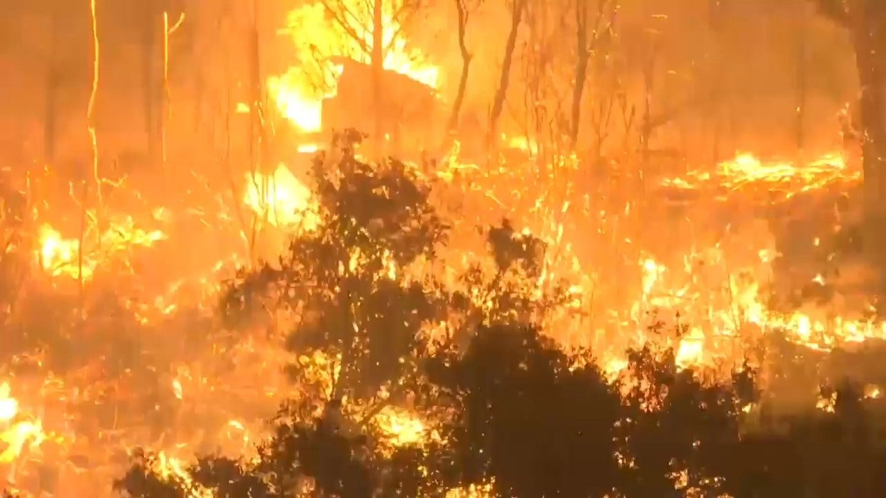 'Cave Fire' Explodes In California Mountains, Threatens Homes