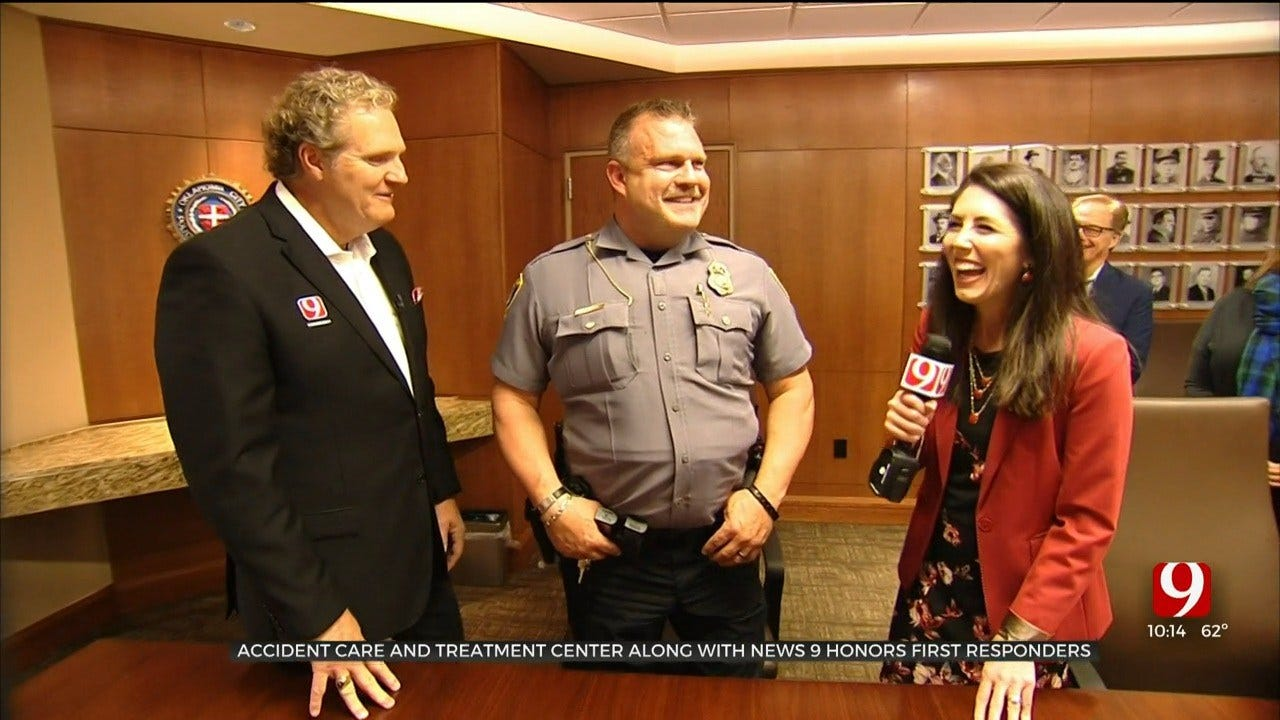 WATCH: Accident Care And Treatment Center, News 9 Team Together To Honor First Responders