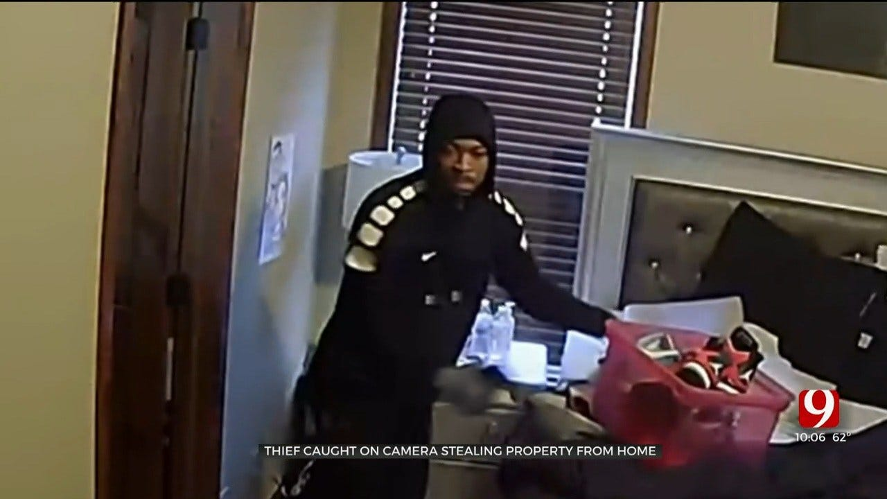 Caught On Camera: Thief Steals Thousands Of Dollars In Property, Including Christmas Gifts From OKC Home