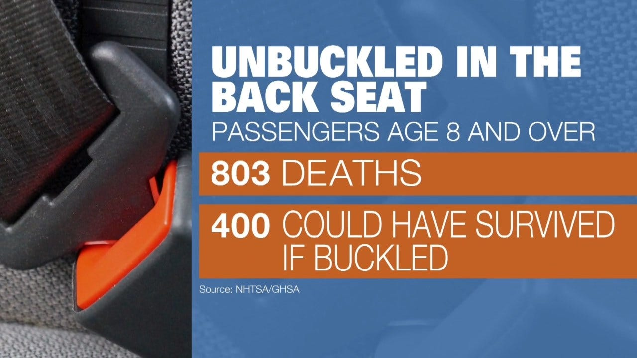 New Study Shows Buckling Up In The Backseat Could Save Your Life