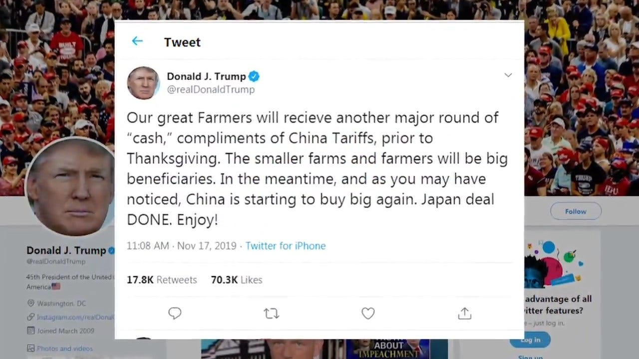 President Trump Promises Cash Before Thanksgiving To Farmers Caught Up In China Trade War