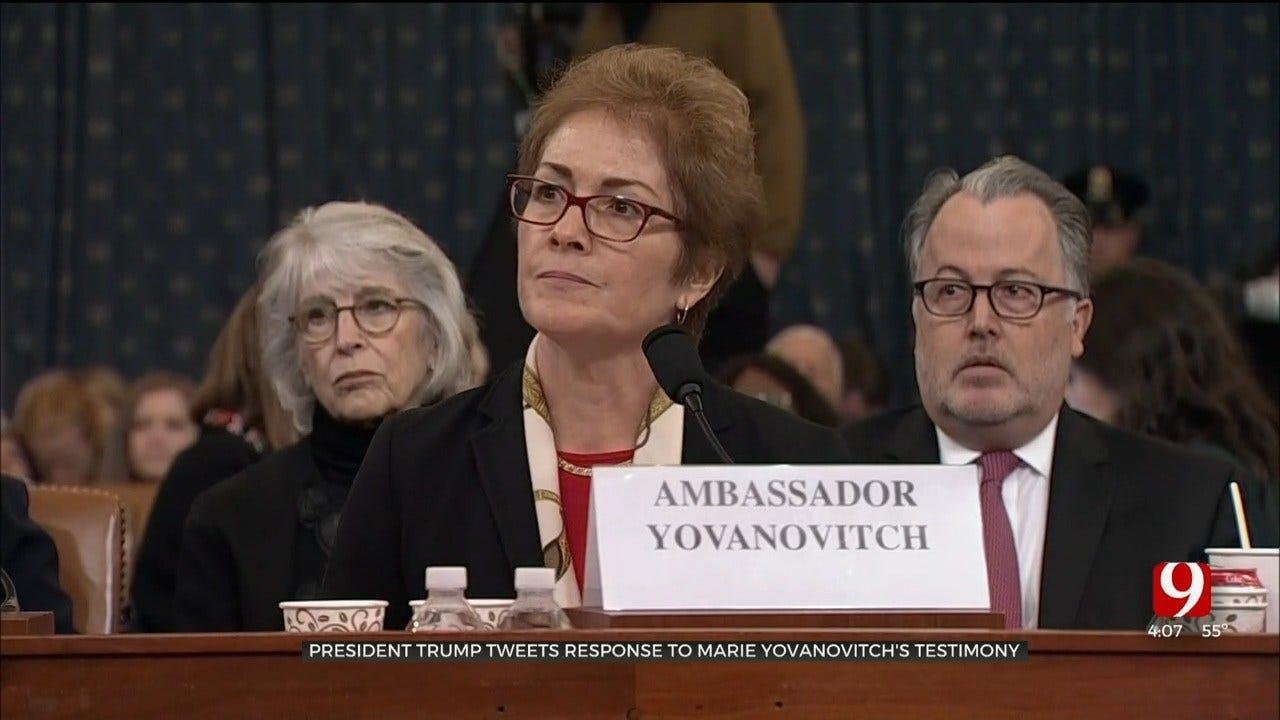 President Trump Tweets Response To Marie Yovanovitch's Testimony