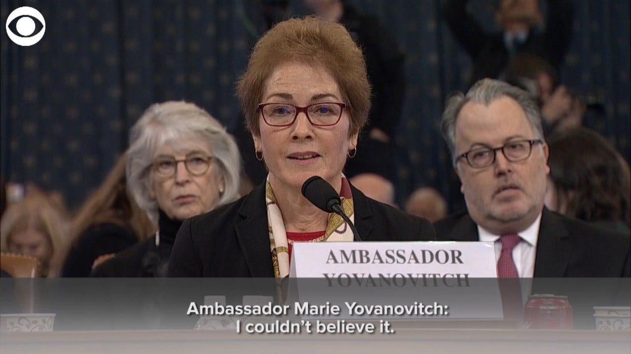 Ex-Ambassador Yovanovitch: President Trump's Words 'Kinda Felt Like A Vague Threat'