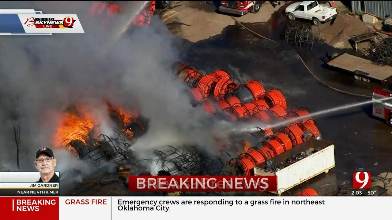 Large Fire Reported In NE OKC