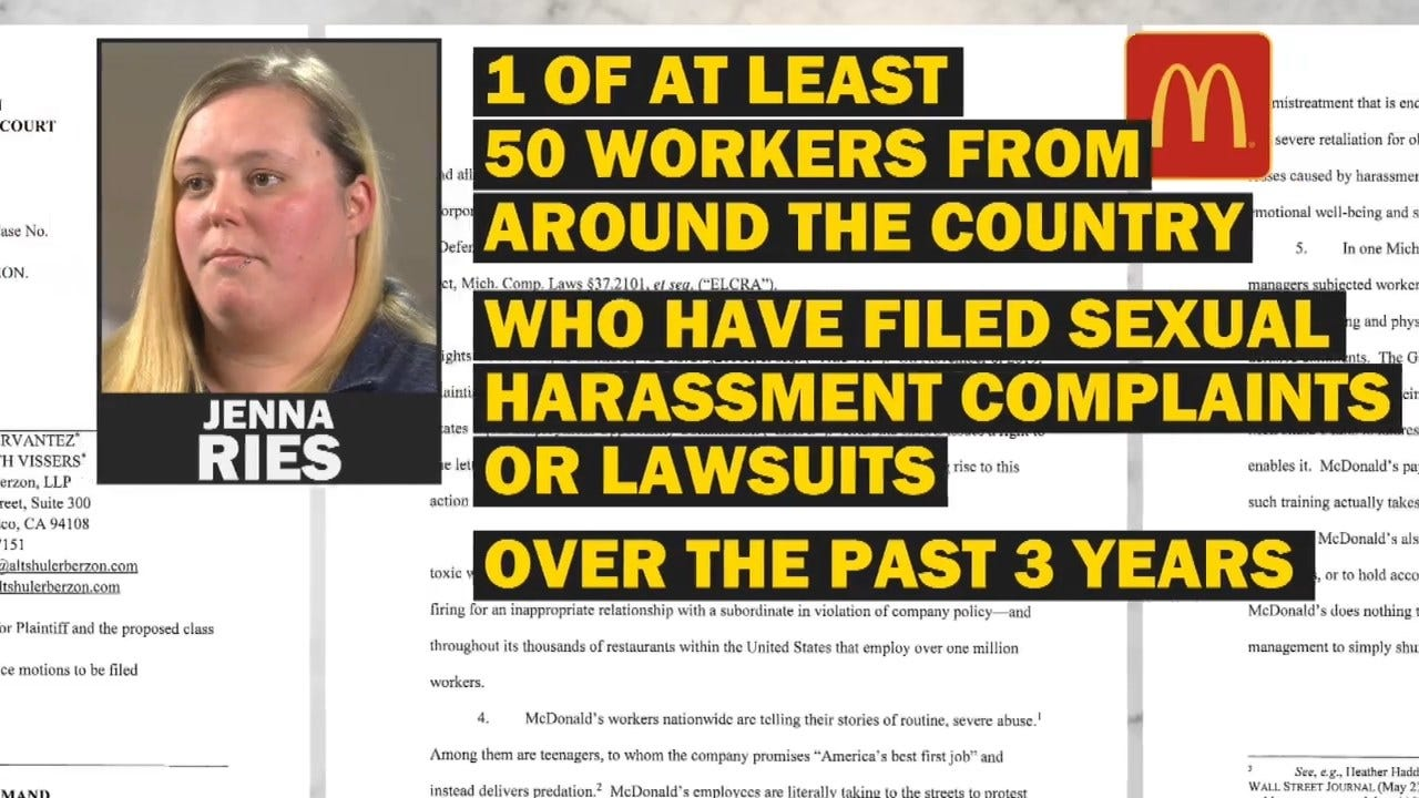 Ex-McDonald's Employee Claims Sexual Harassment
