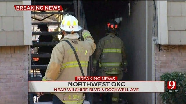 Firefighters Knock Down NW OKC Apartment Fire
