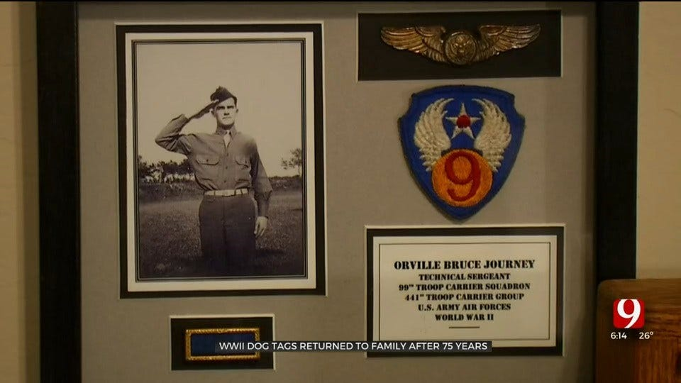 WWII Dog Tags Returned To Family After 75 Years