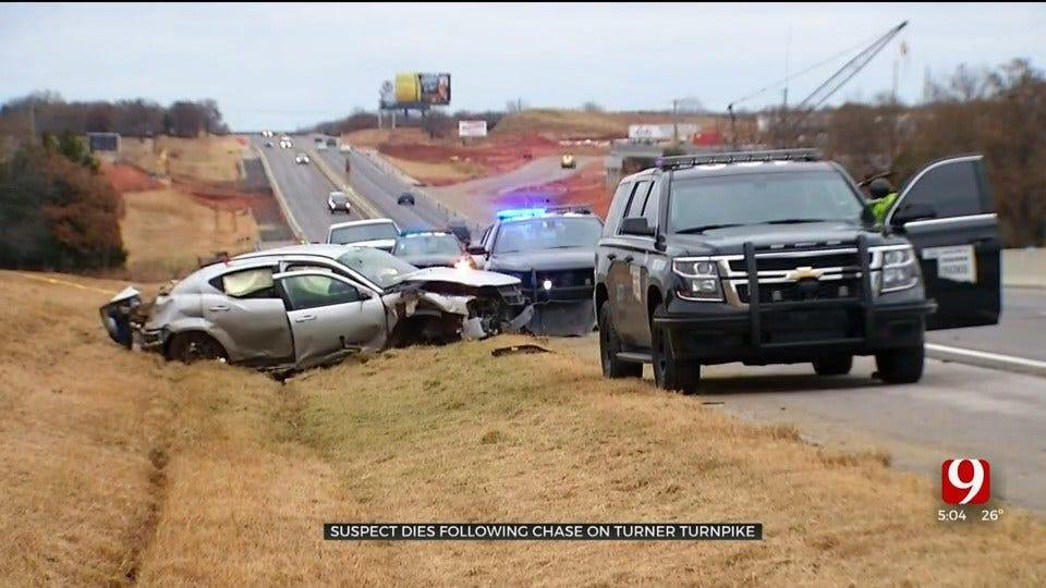 OHP: 1 Dead After Pursuit Ends In Crash On Turner Turnpike Near Chandler