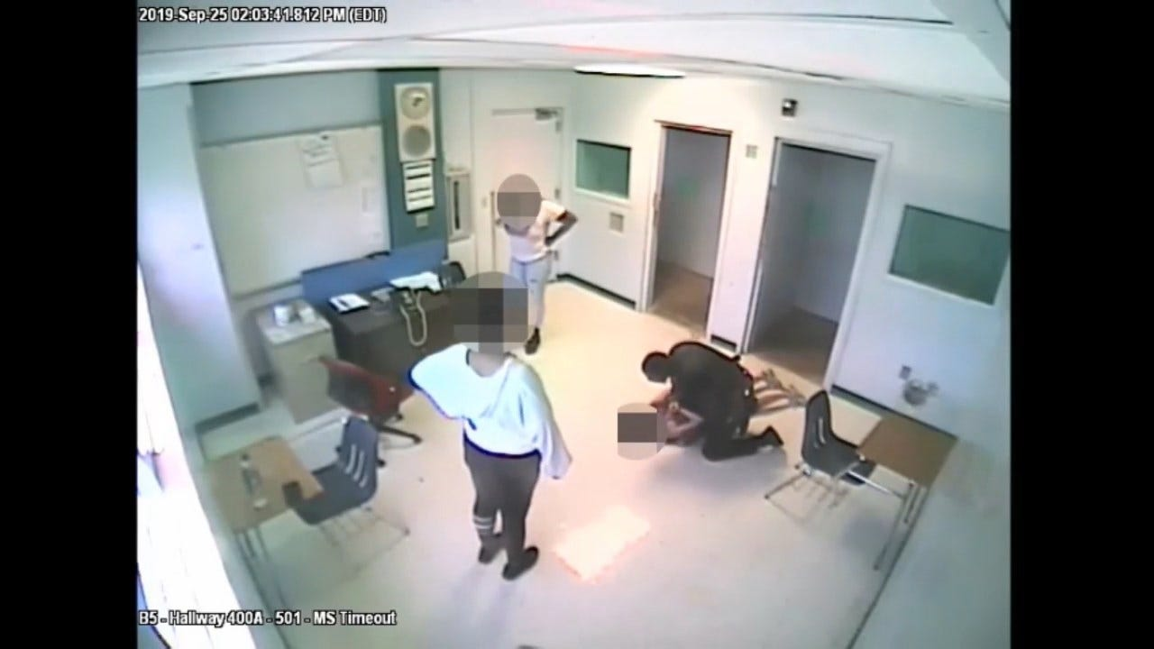 WATCH: Surveillance Video Shows Moment Deputy Slams 15-Year-Old Girl