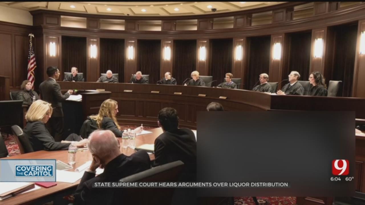 Oklahoma State Supreme Court Hears Argument Over Liquor Distribution