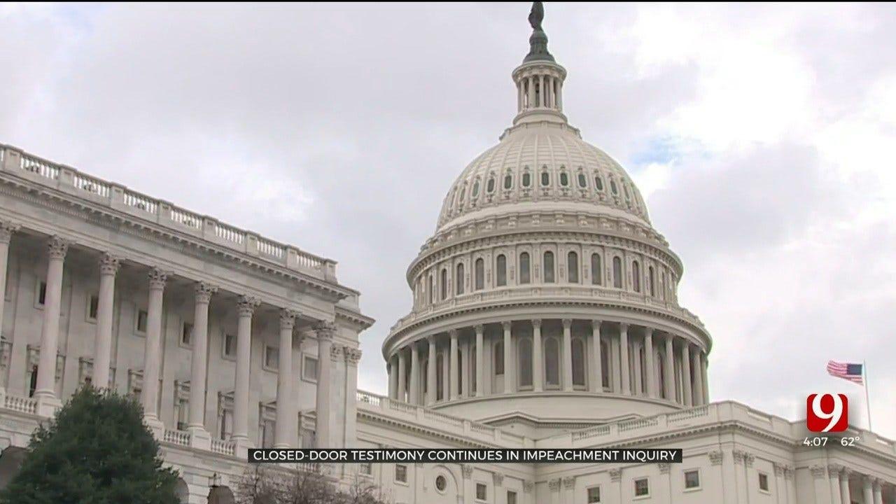 Democrats Continue Closed-Door Testimony In Impeachment Inquiry