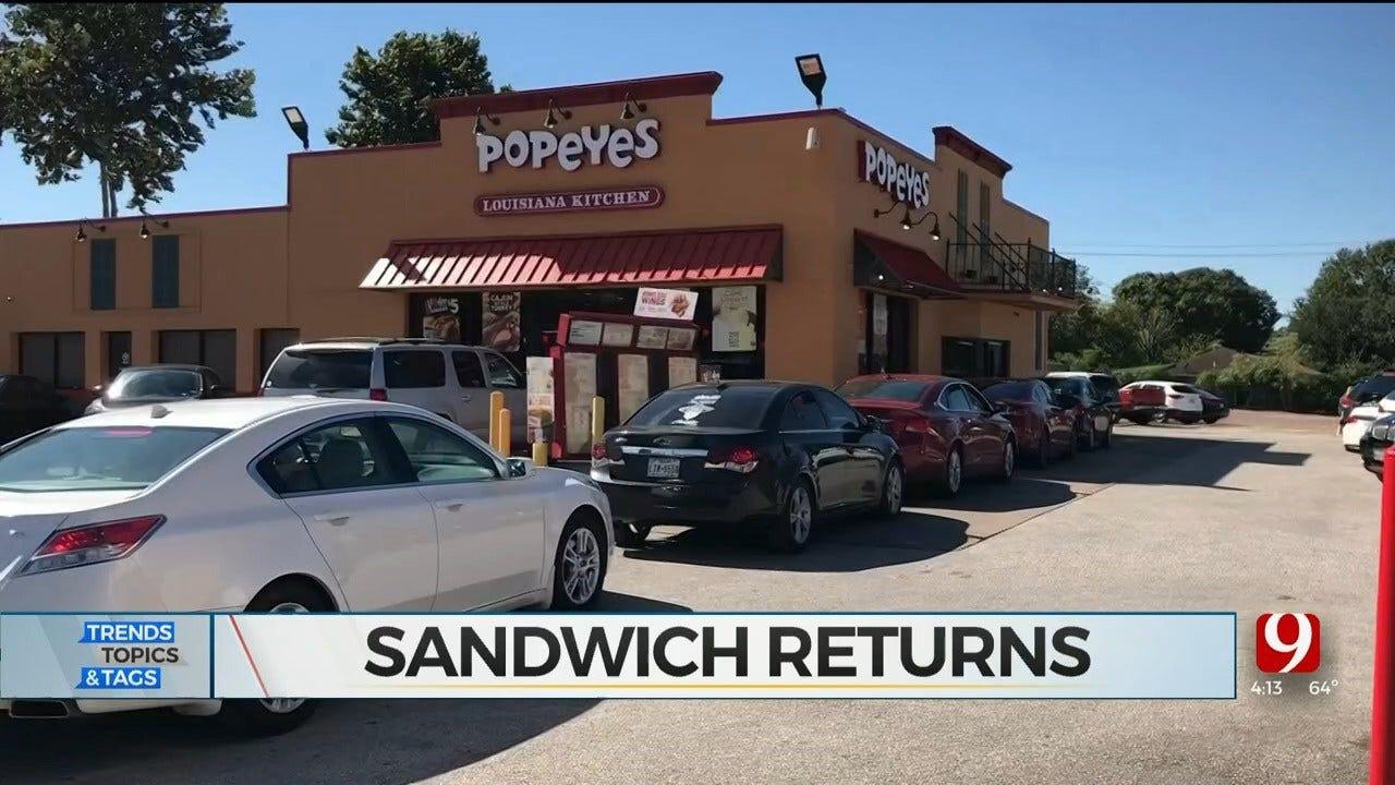 Trends, Topics & Tags: Popeye's Chicken Sandwich Makes Return