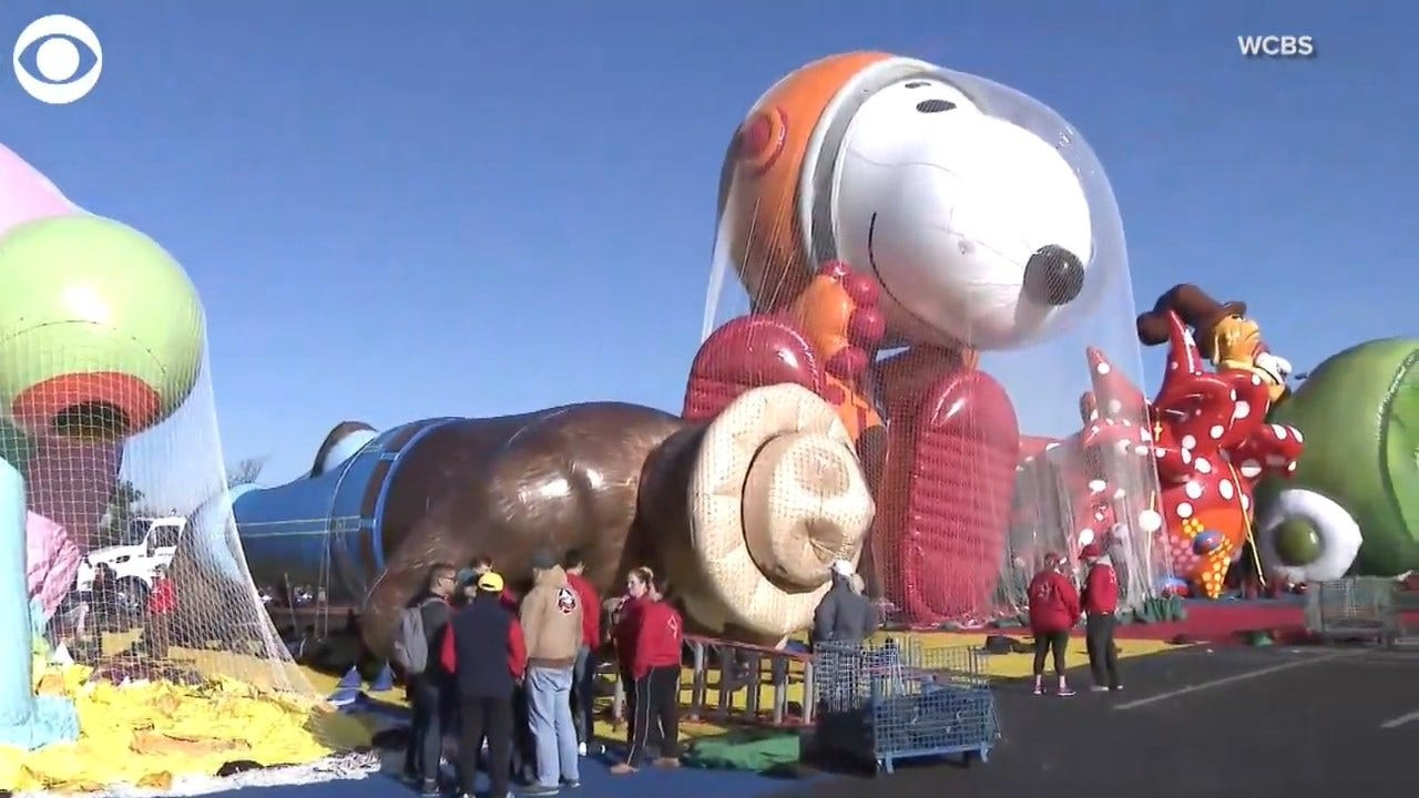 WATCH: Macy's Thanksgiving Parade Workers Test Run 2019's Newest Balloons