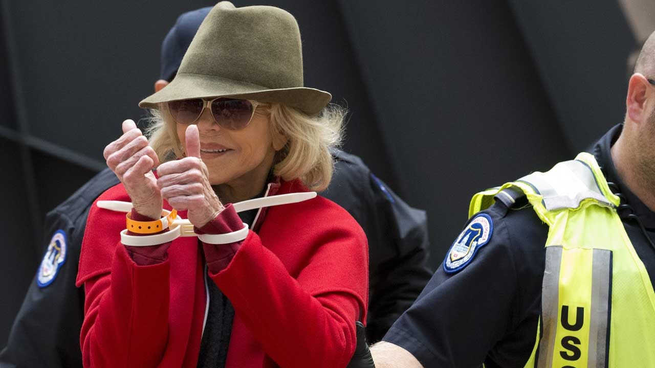 WATCH: Jane Fonda Arrested Again With Celebrity Friends During Weekly Climate Change Protest
