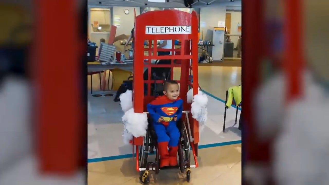 Volunteers Help Build Costumes For Children In Wheelchairs