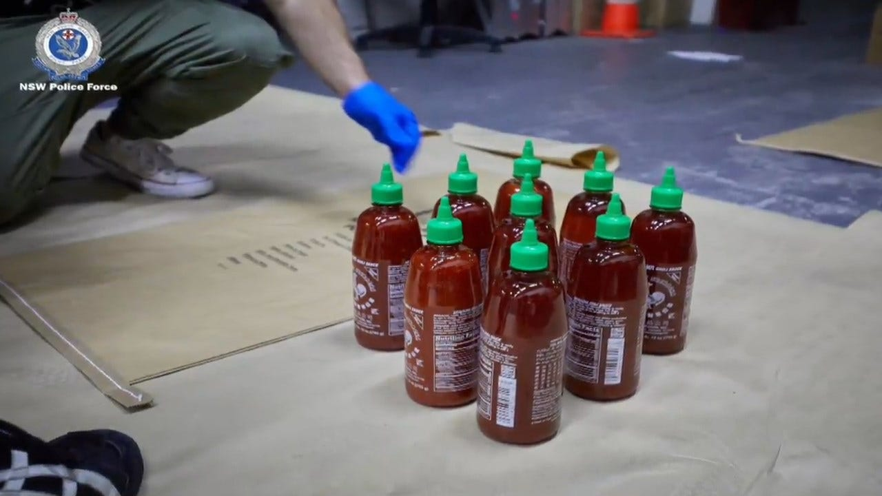 Hundreds Of Pounds Of Crystal Meth Found In Hot Sauce Bottles