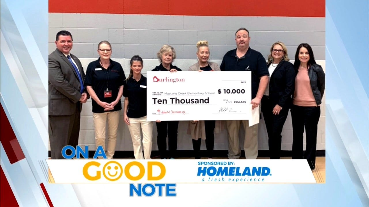 On A Good Note: Mustang School Gets $10,000 Check For New Supplies