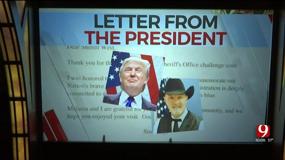 Canadian County Sheriff Receives Letter From President Trump