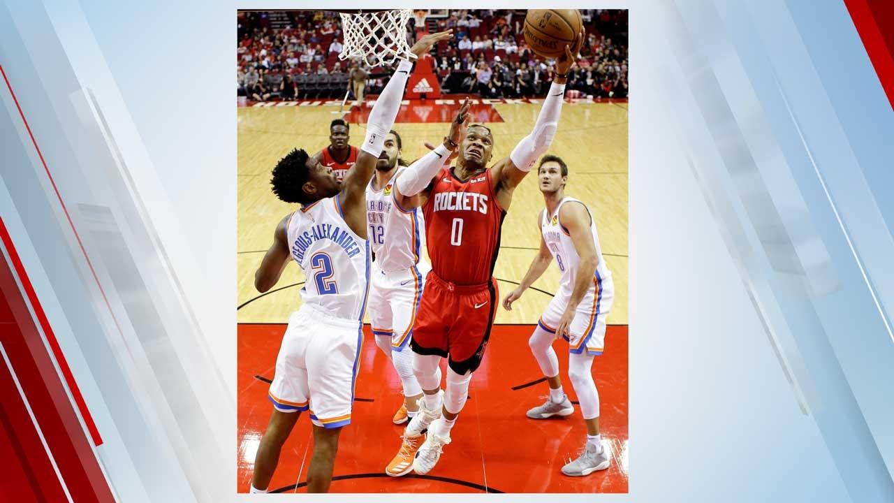 Westbrook Scores 21 As Rockets Beat Thunder 116-112