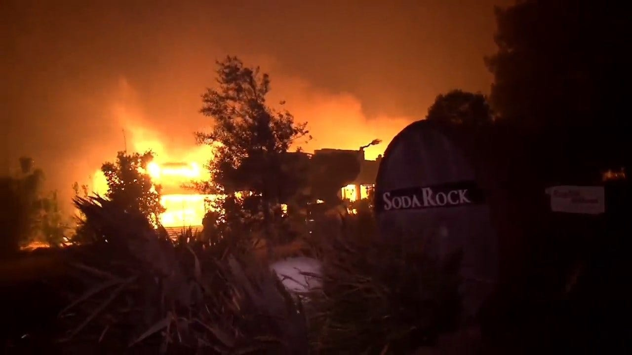 Hurricane Force Winds Fuel Wildfires In Northern California