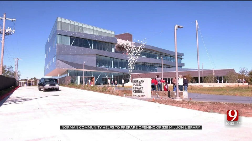 Norman Community Helps To Prepare Opening Of $39 Million Library