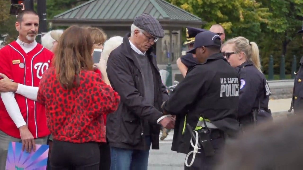 WATCH: Ted Danson Arrested With Jane Fonda At U.S. Capitol