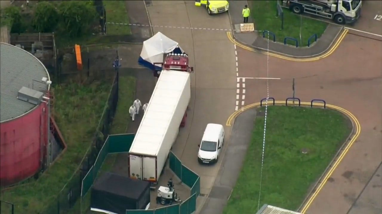 UK Police Launch Murder Probe After 39 Bodies Found In Truck