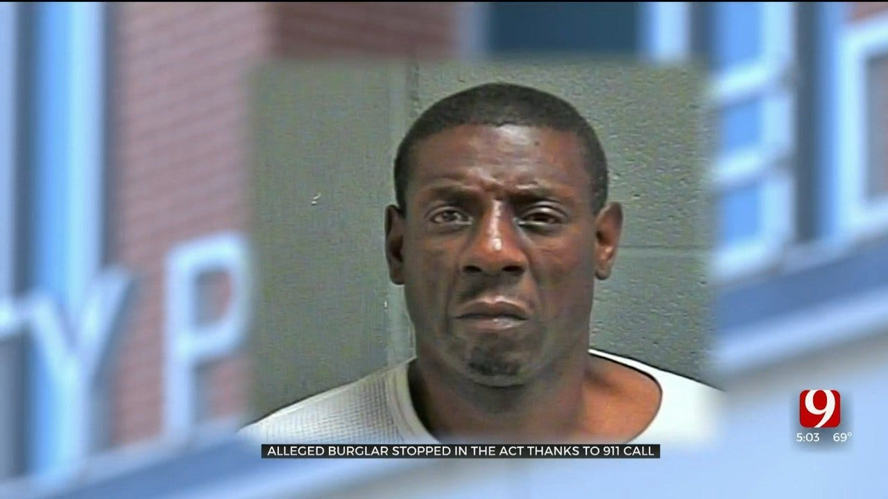 Alleged Burglar Stopped In The Act At NW OKC Apartment Complex Thanks To 911 Call