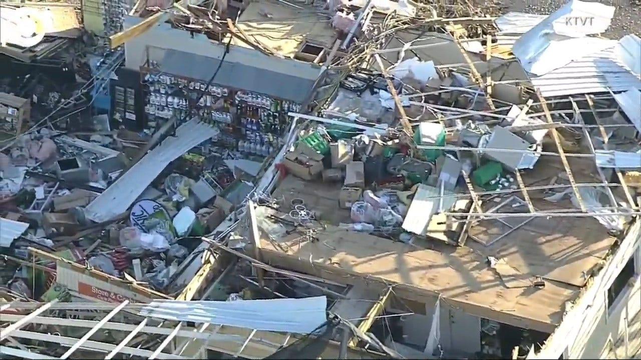 WATCH: Aerial Footage Shows Damage Left Behind By A Tornado In Dallas