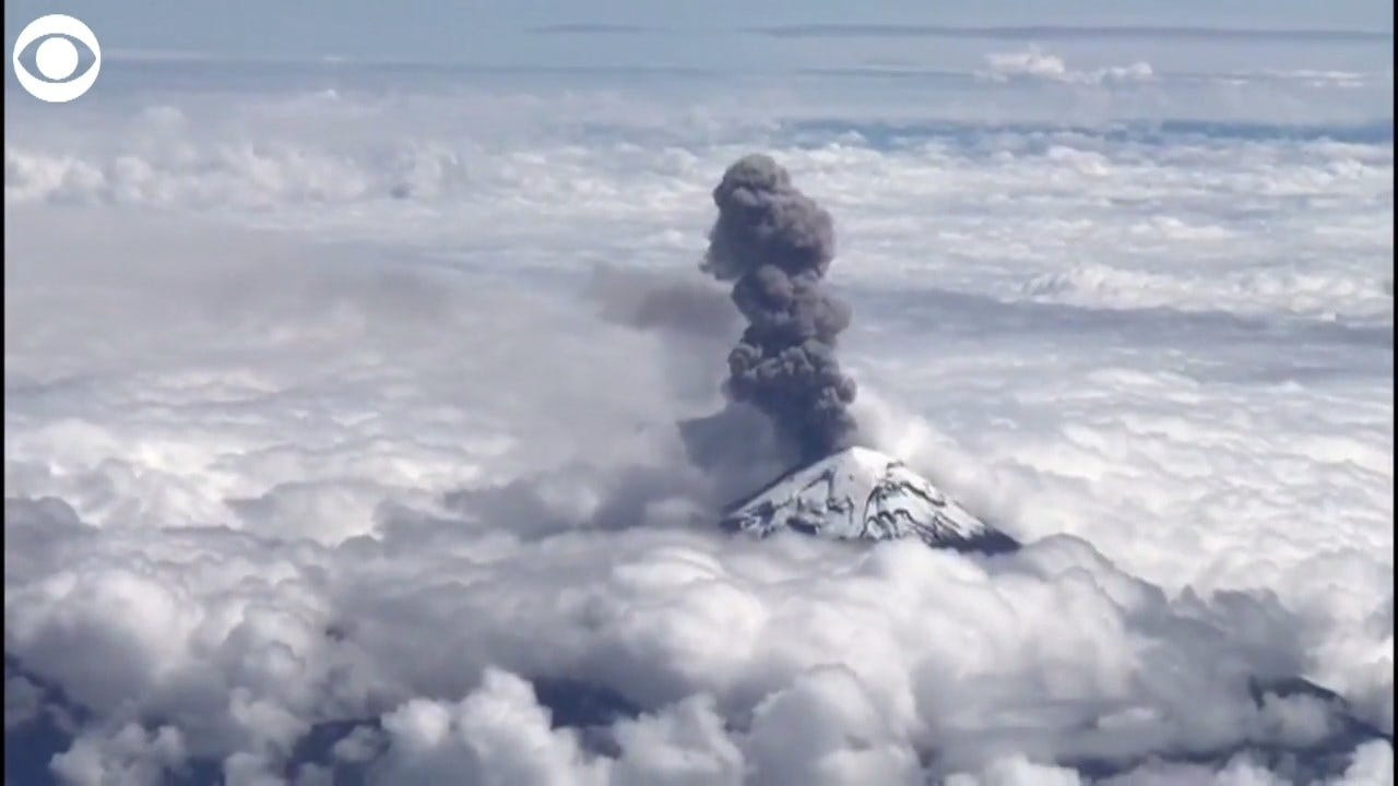WATCH: Stunning View Of Volcano In Mexico